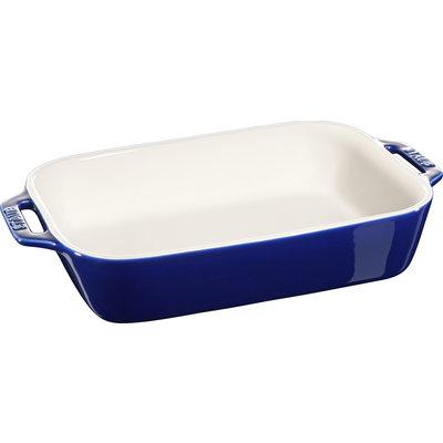 "STAUB Ceramic 10.6"" X 7.9"" Rectangular Dish Blue"
