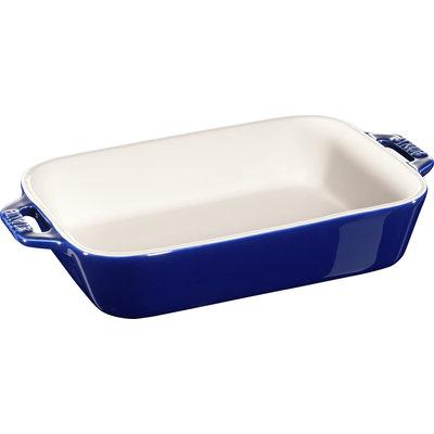 "STAUB Ceramic 7.9"" X 6.3"" Rectangular Dish Blue"