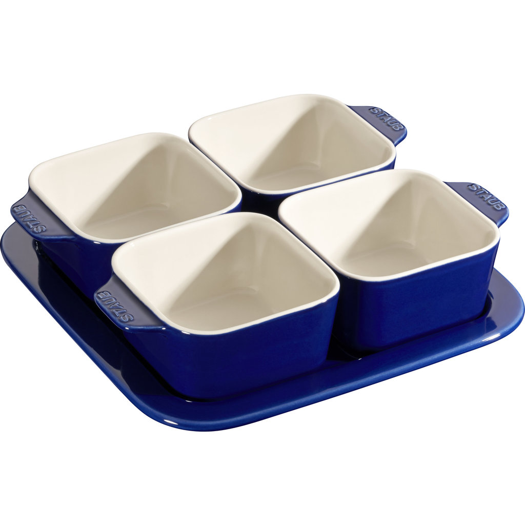 STAUB Ceramic Appetizer Ensemble Bleu