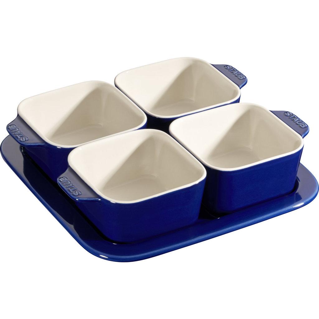 STAUB Ceramic Appetizer Set Blue