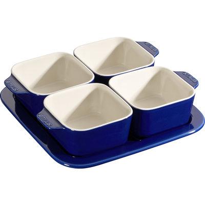 STAUB Ceramic Appetizer Ensemble Bleu