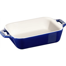 "STAUB Ceramic 5.5"" X 4.3"" Rectangular Dish Blue"
