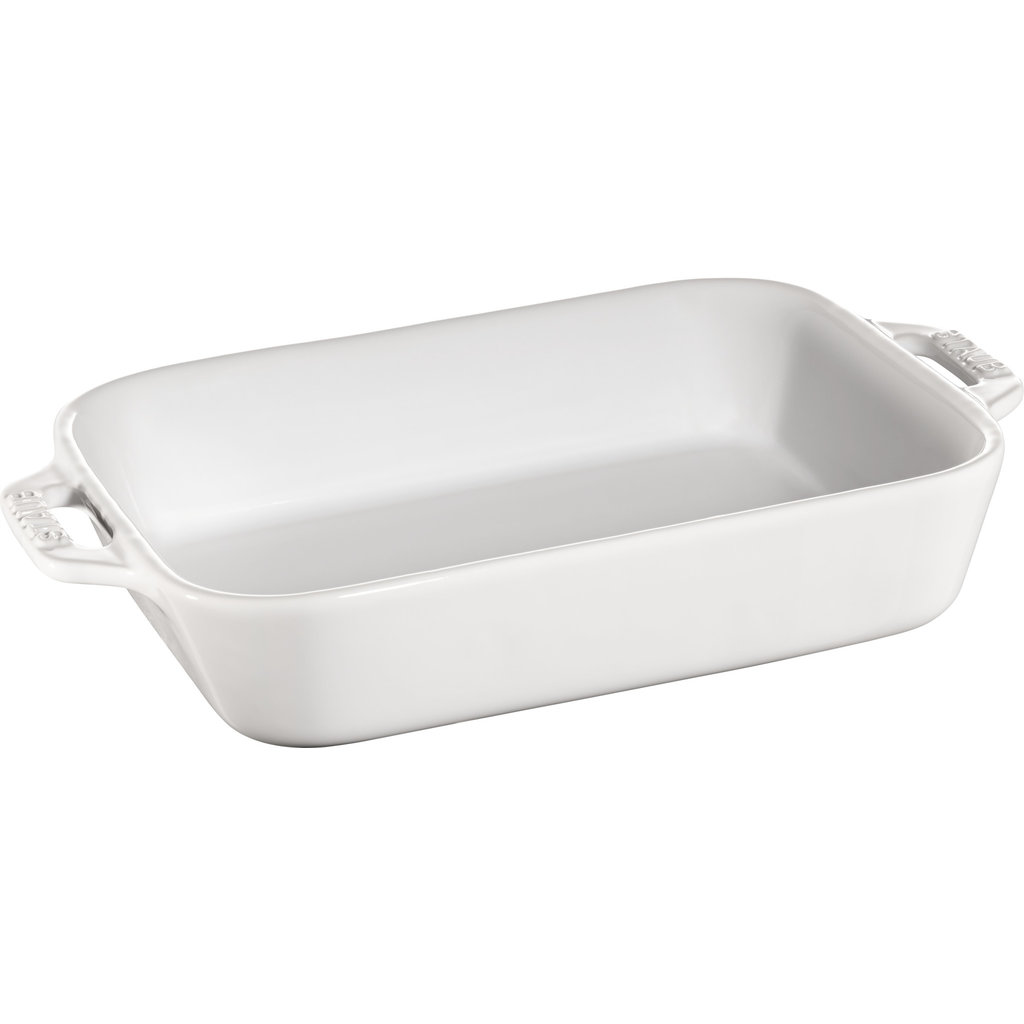 "STAUB Ceramic 7.9"" X 6.3"" Rectangular Dish White"