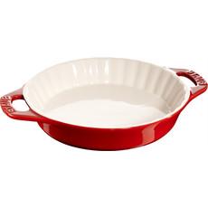 """STAUB Ceramic Pie Dish 9.4"""" Cherry Red"""