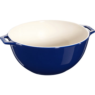 "STAUB Ceramic 9.8"" Large Serving Bowl Blue"