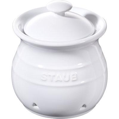 STAUB Ceramic Garlic Keeper White
