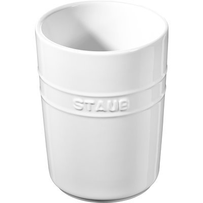 STAUB Ceramic Utensil Holder White