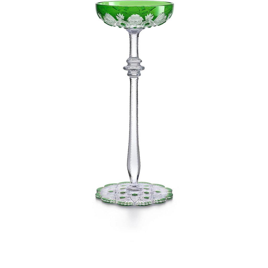 BACCARAT Tsar Champagne Coupe Green