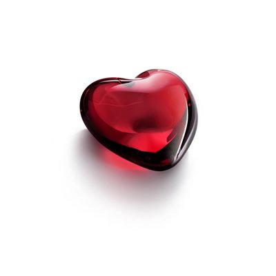 BACCARAT Puffed Hearts Figurine Red