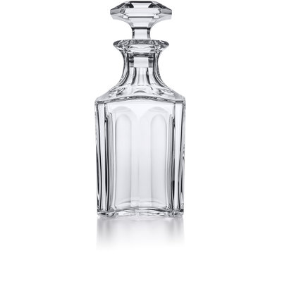 BACCARAT Harcourt 1841 Square Whiskey Decanter 9 5/8'' H - 26 1/2 Oz