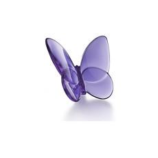 """BACCARAT Papillon Porte-Bonheur Mauve 2 1/2"""" - 3 3/8"""""""