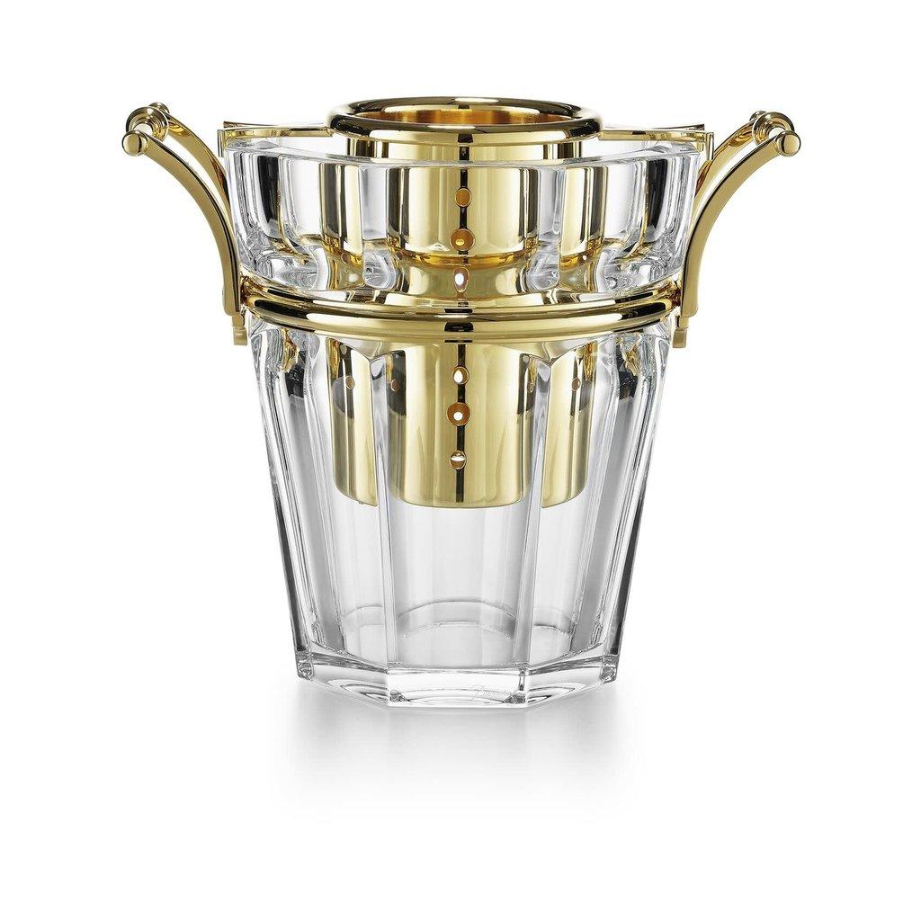 BACCARAT Harcourt Champagne Cooler Gilt