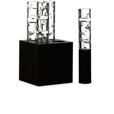 BACCARAT Jardin De Cristal Jallum Candle Light Iec 04L Round Shape Cut Black