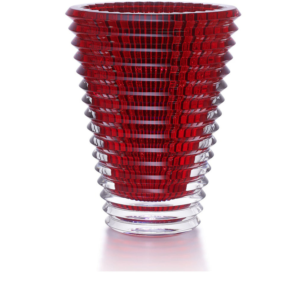 BACCARAT Eye Vase Oval 420 Rouge