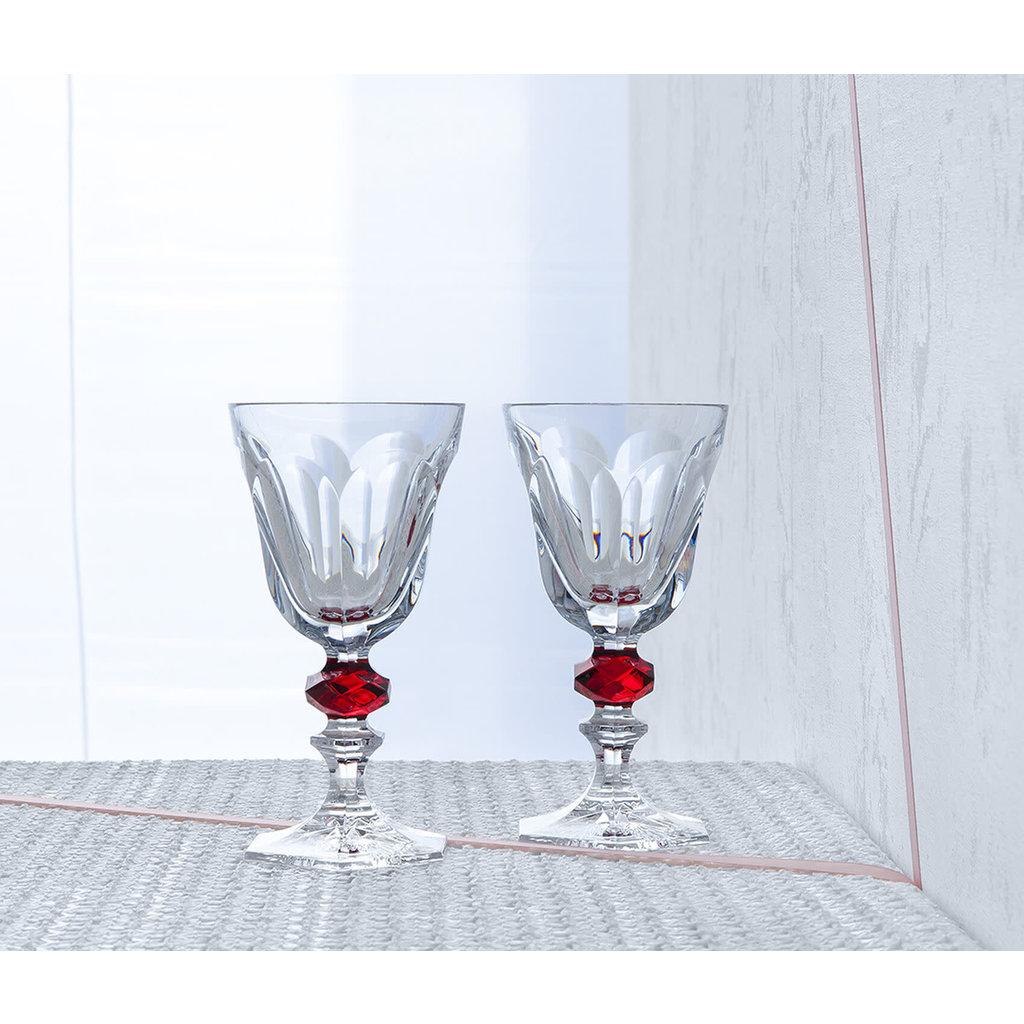 BACCARAT Harcourt 1841 Glass 2 Red Knob X2