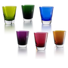 BACCARAT Mosaique Set Tumblers Colours X6