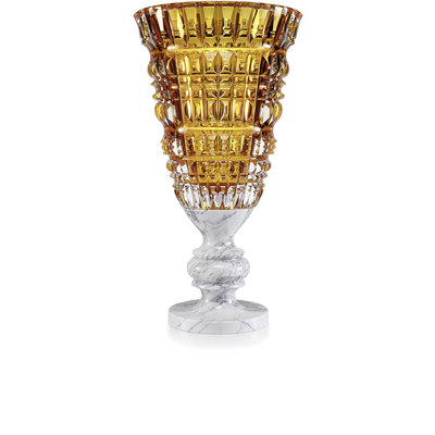 BACCARAT New Antique Vase Amber 99 Copies