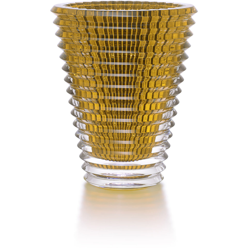 BACCARAT Eye Vase Oval 420 Amber