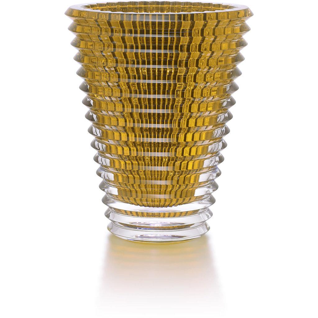 BACCARAT Vase Oeil Ovale 420 Ambre