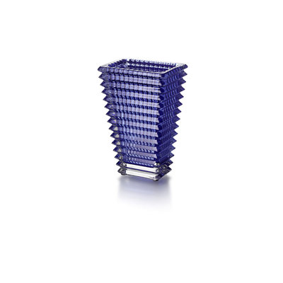 BACCARAT Eye Vase Rectangular 200 Blue