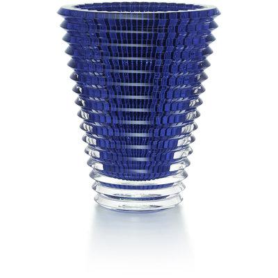 BACCARAT Eye Vase Oval 420 Blue