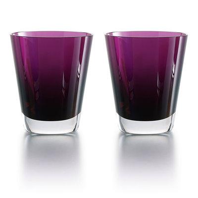 BACCARAT Mosaique Purple Tumbler X2