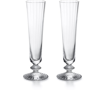 BACCARAT Mille Nuits Champagne Flute X2