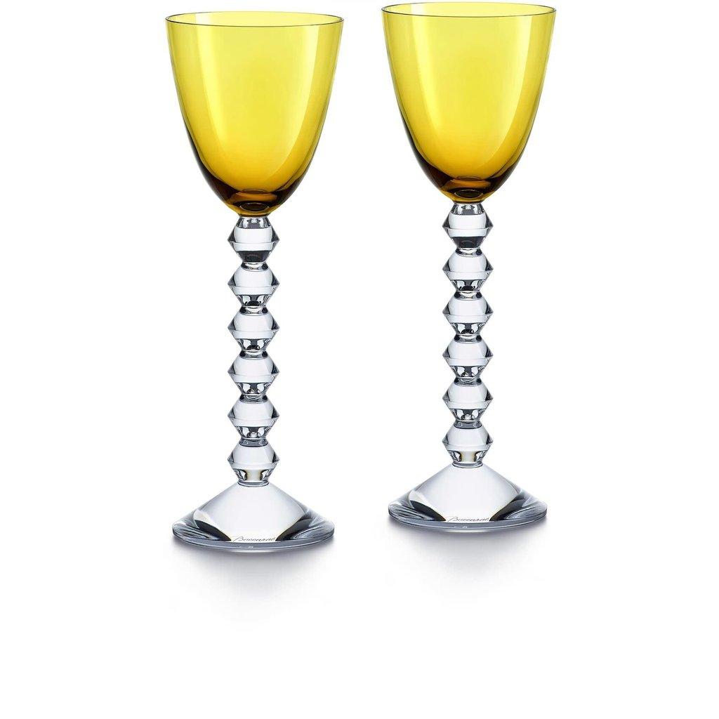 BACCARAT Vega Rhine Wine Amber Glass X2