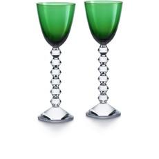 BACCARAT Vega Rhine Wine Green Glass X2