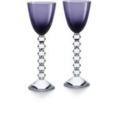 BACCARAT Vega Rhine Wine Purple Glass X2