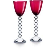 BACCARAT Vega Rhine Wine Red Glass X2