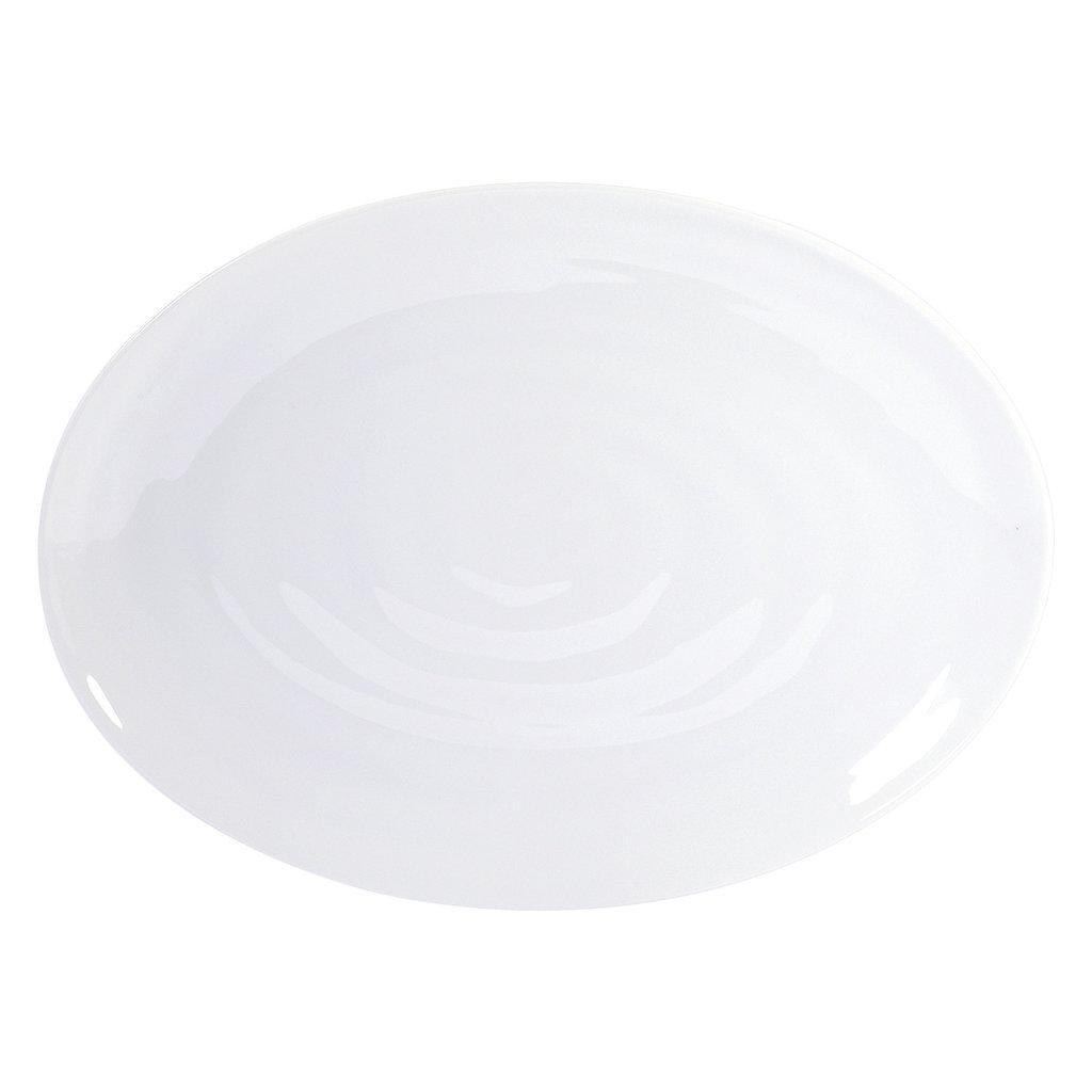 BERNARDAUD Origine White Oval Platter 13'' - 35 Cm
