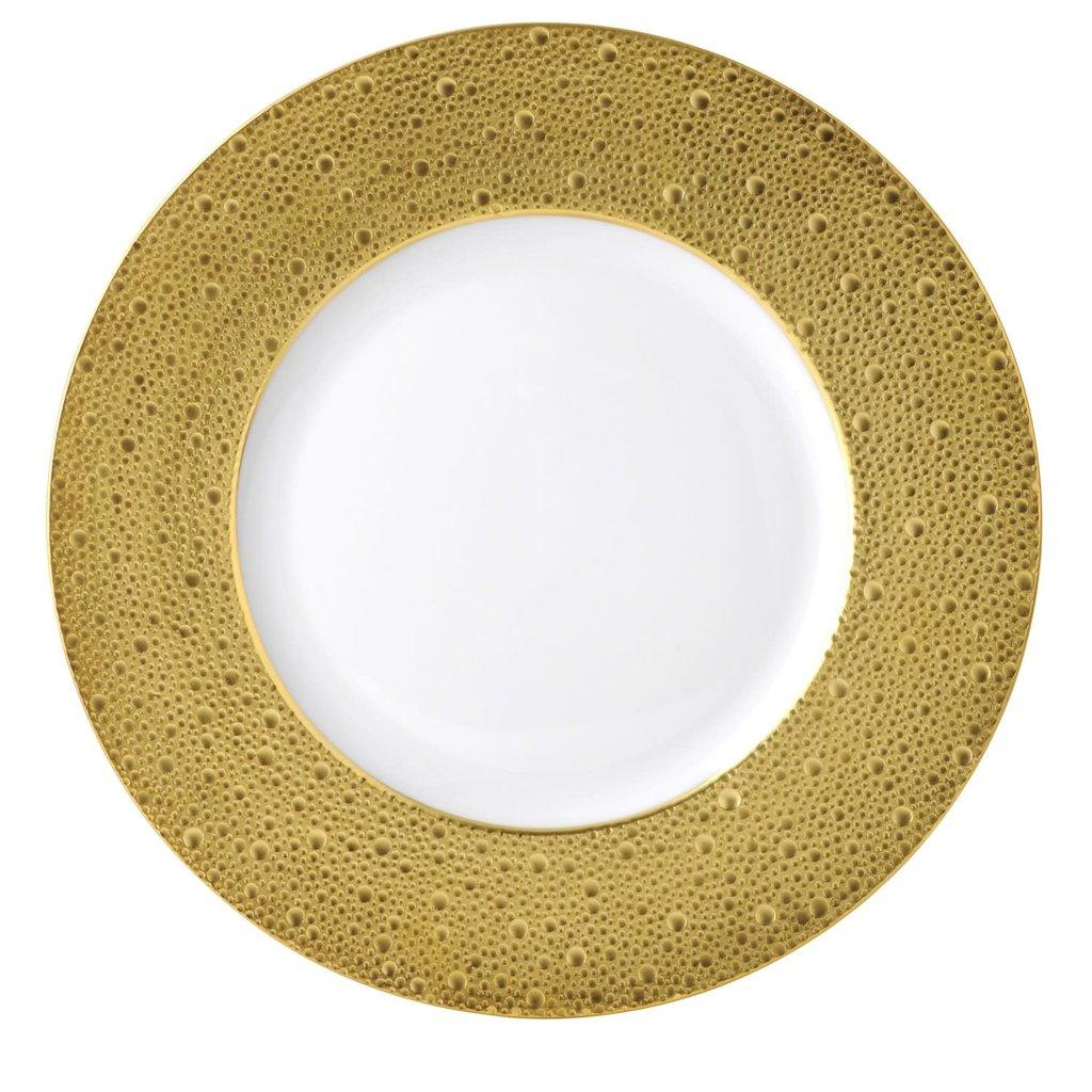 BERNARDAUD Ecume Gold Service Plate 11.6''