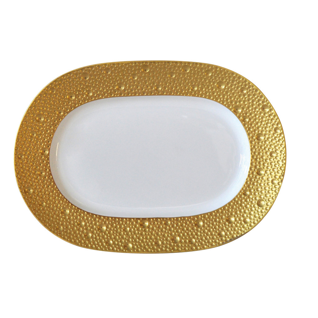 BERNARDAUD Ecume Gold Relish Dish