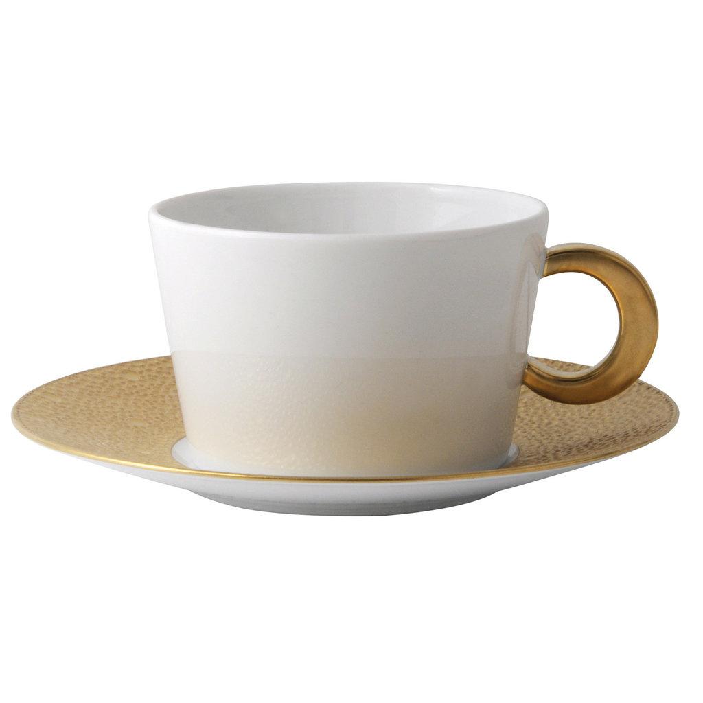 BERNARDAUD Ecume Gold Breakfast Cup Only
