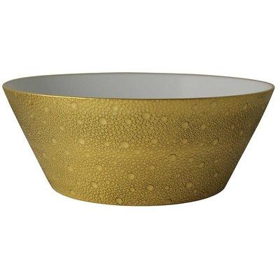 """BERNARDAUD Ecume Gold Salad Bowl - 11"""""""
