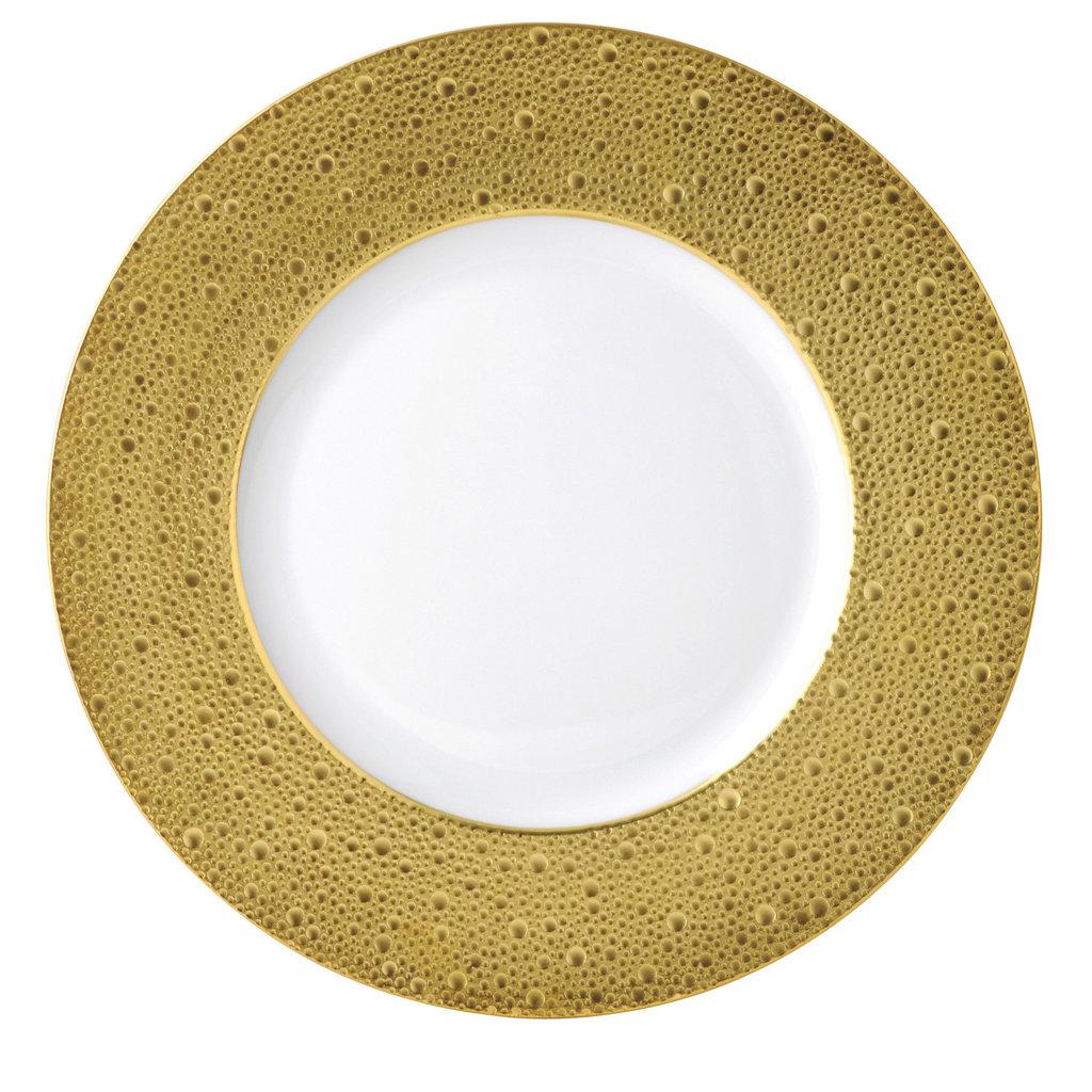 BERNARDAUD Ecume Gold Service Plate 12.4''