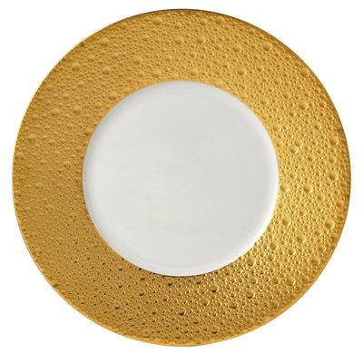 """BERNARDAUD Ecume Gold Salad Plate - 8.3"""""""