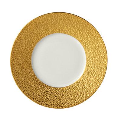 """BERNARDAUD Ecume Gold Bread & Butter Plate - 6.3"""""""