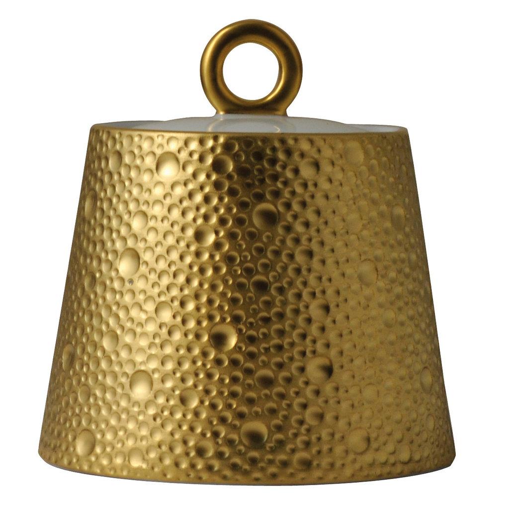 BERNARDAUD Ecume Gold Sugar Bowl