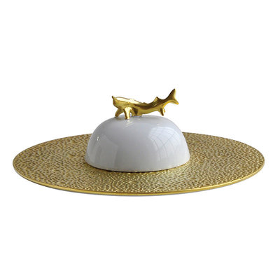 BERNARDAUD Ecume Gold Caviar Set - Ecume Gold