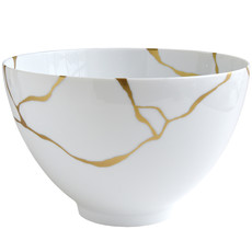 BERNARDAUD Kintsugi - Sarkis Deep Salad Bowl-10.6In