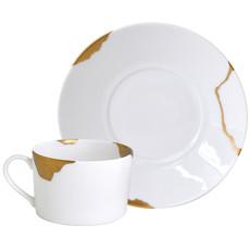 BERNARDAUD Kintsugi - Sarkis Breakfast Cup & Saucer-Set/2
