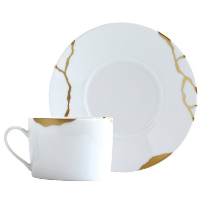 BERNARDAUD Kintsugi - Sarkis Set Of 2 Tea C&S