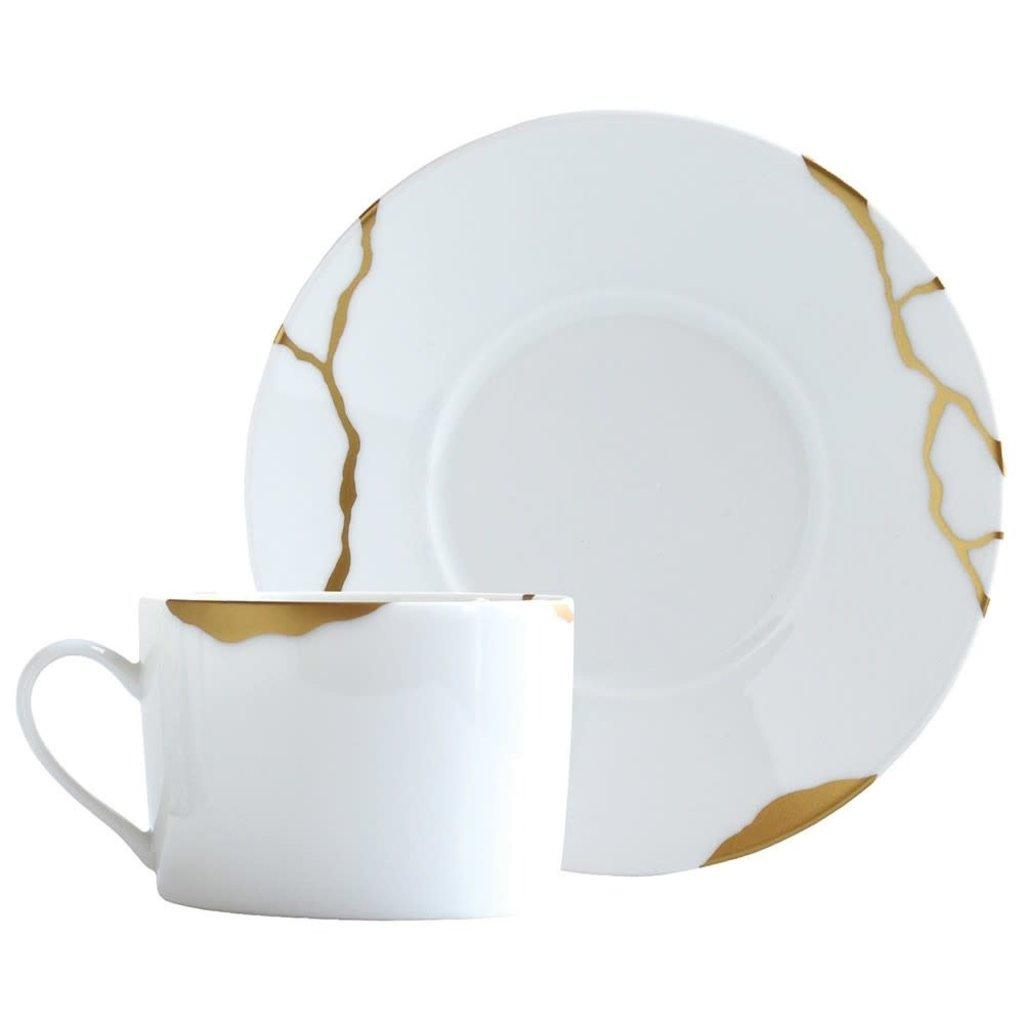 BERNARDAUD Kintsugi - Sarkis Set Of 4 Tea C&S