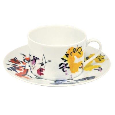"BERNARDAUD The Hadassah Windows - Marc Chagall Breakfast Cup & Saucer-Set/2 - ""Joseph Tribe"""