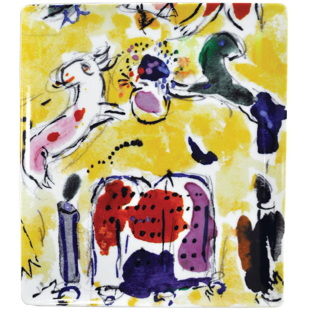 "BERNARDAUD The Hadassah Windows - Marc Chagall Rectangular Tray-10.4X9.3In - ""Levy Tribe"""