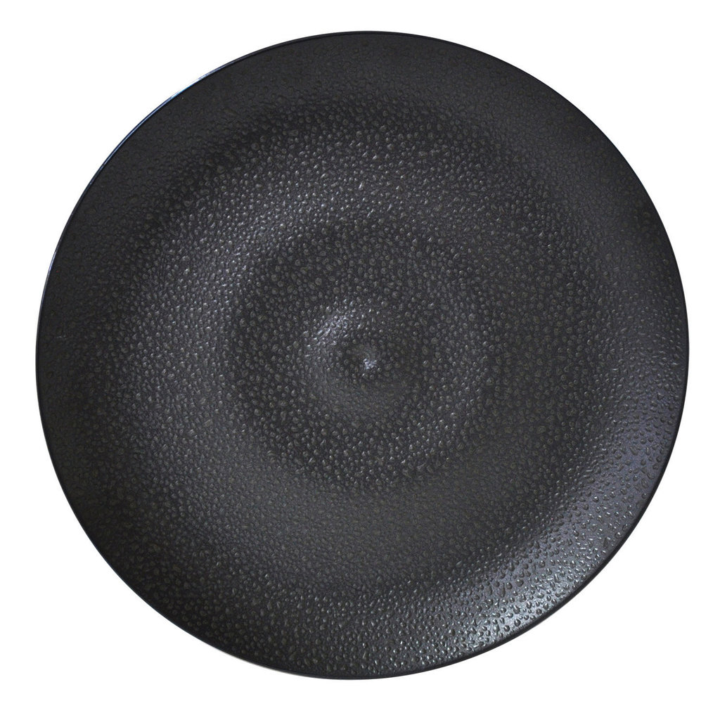 BERNARDAUD Bulle Black Sand Service Plate