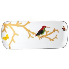 BERNARDAUD Aux Oiseaux Cake Platter Rectangular 15''