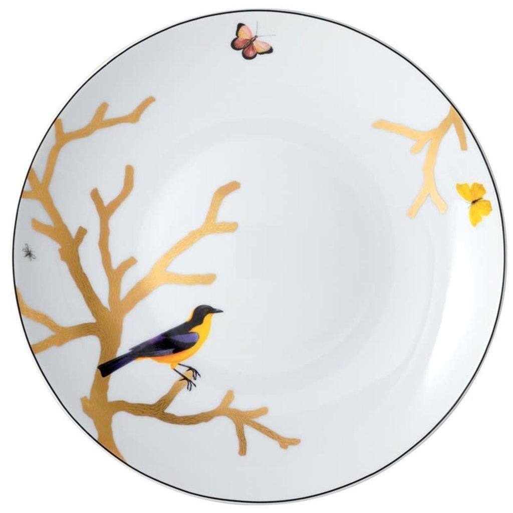BERNARDAUD Aux Oiseaux Deep Round Dish